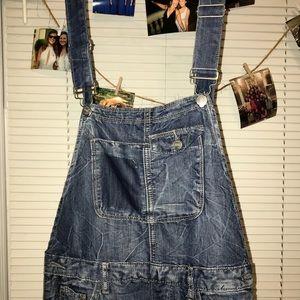 Denim - blue jean overalls
